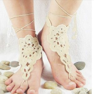 Jewelry - 1Pair Crochet Lace Up Anklets